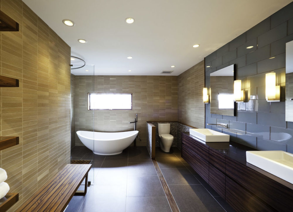 Модные потолочные светильники как освещение в спальне и ванной